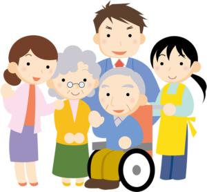 祖父母や父親、家族画像