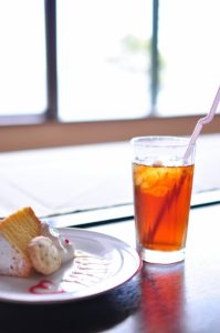 カフェの紅茶