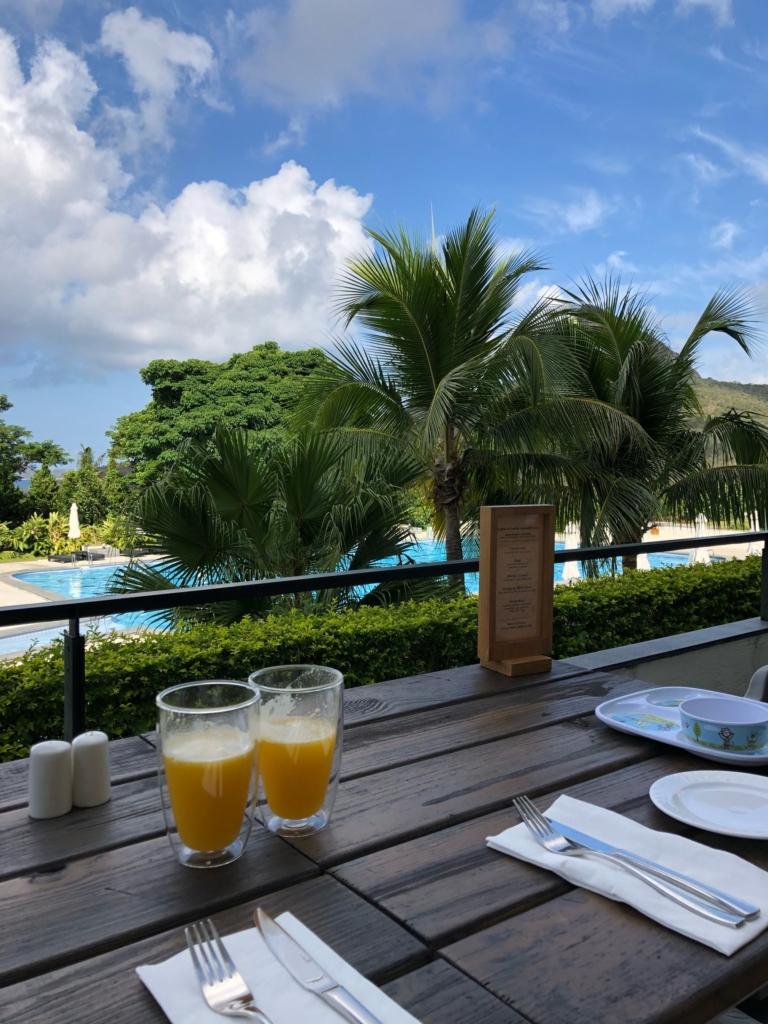 グロリアマナーの朝ごはんの風景