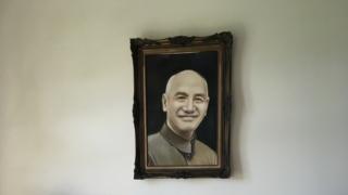 ホテル・グロリアマナーにある蒋介石の絵