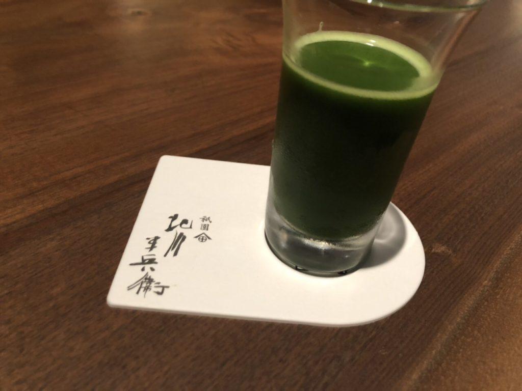 京都祇園北川半兵衛カフェの抹茶