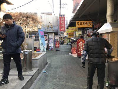 韓国の東大門タッカンマリ横丁