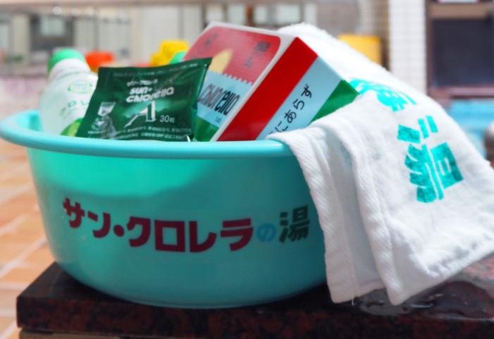 京都の銭湯でサンクロレラの湯